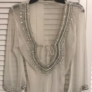Other - White sparkly beach coverup